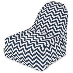 Majestic Home Goods Chevron Bright Indoor Outdoor Kick-It Chair
