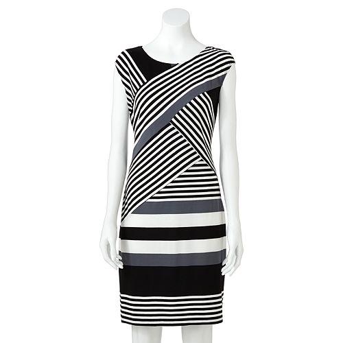 AB Studio Crisscross T-Shirt Sheath Dress