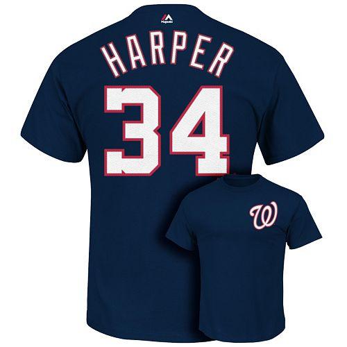 premium selection 43de4 1f178 Men's Majestic Washington Nationals Bryce Harper Tee