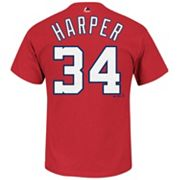 Men's Majestic Washington Nationals Bryce Harper Tee