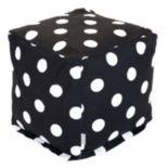 Majestic Home Goods Polka-Dot Small Cube Ottoman