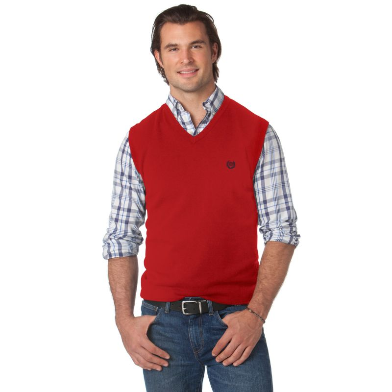 Boys Holiday Sweater Vests - Bronze Cardigan