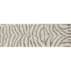 nuLOOM Earth Irridescent Zebra Rug Runner - 2'6' x 8'