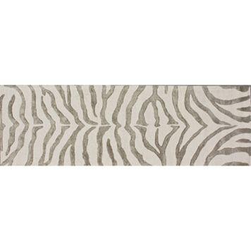 nuLOOM Earth Irridescent Zebra Rug Runner - 2'6