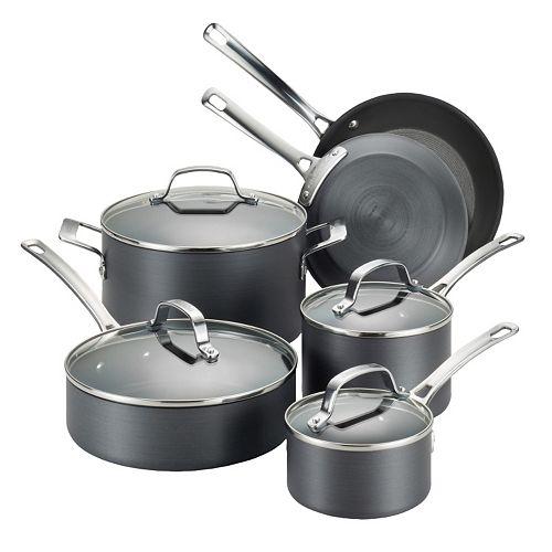 Circulon Genesis 10 Pc Nonstick Hard Anodized Cookware Set