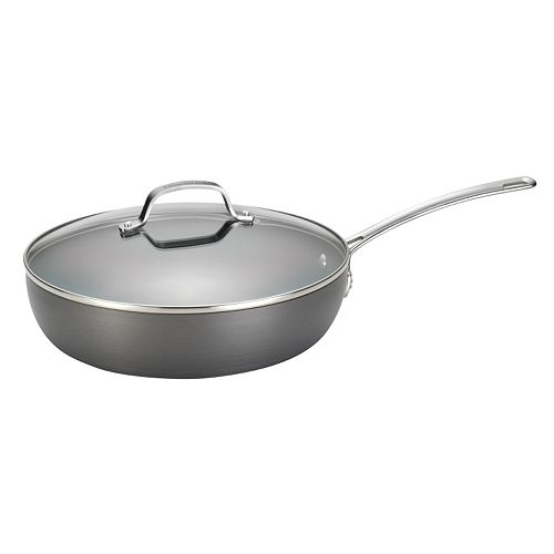 Circulon Genesis 12-in. Nonstick Hard-Anodized Covered Deep Skillet