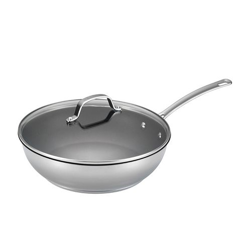 Circulon Genesis 12 1/2-in. Nonstick Stainless Steel Covered Deep Skillet