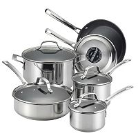 Circulon Genesis 10 pc Nonstick Stainless Steel Cookware Set