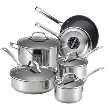 Circulon Genesis 10-pc. Nonstick Stainless Steel Cookware Set