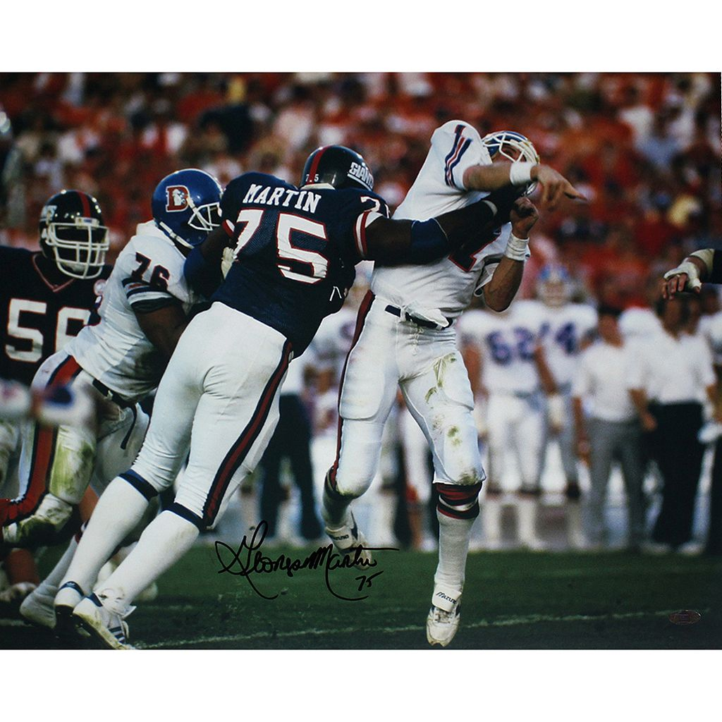 Steiner Sports George Martin Super Bowl XXI Hit on John Elway 16'' x 20'' Signed Photo