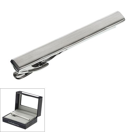 Croft & Barrow® Brushed Rhodium Tie Clip - Men