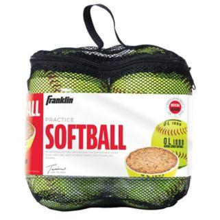 Franklin 4-pk. Official League Yellow Softballs