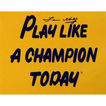 Steiner Sports Lou Holtz Play Like A Champion Today 8'' x 10'' Signed Photo