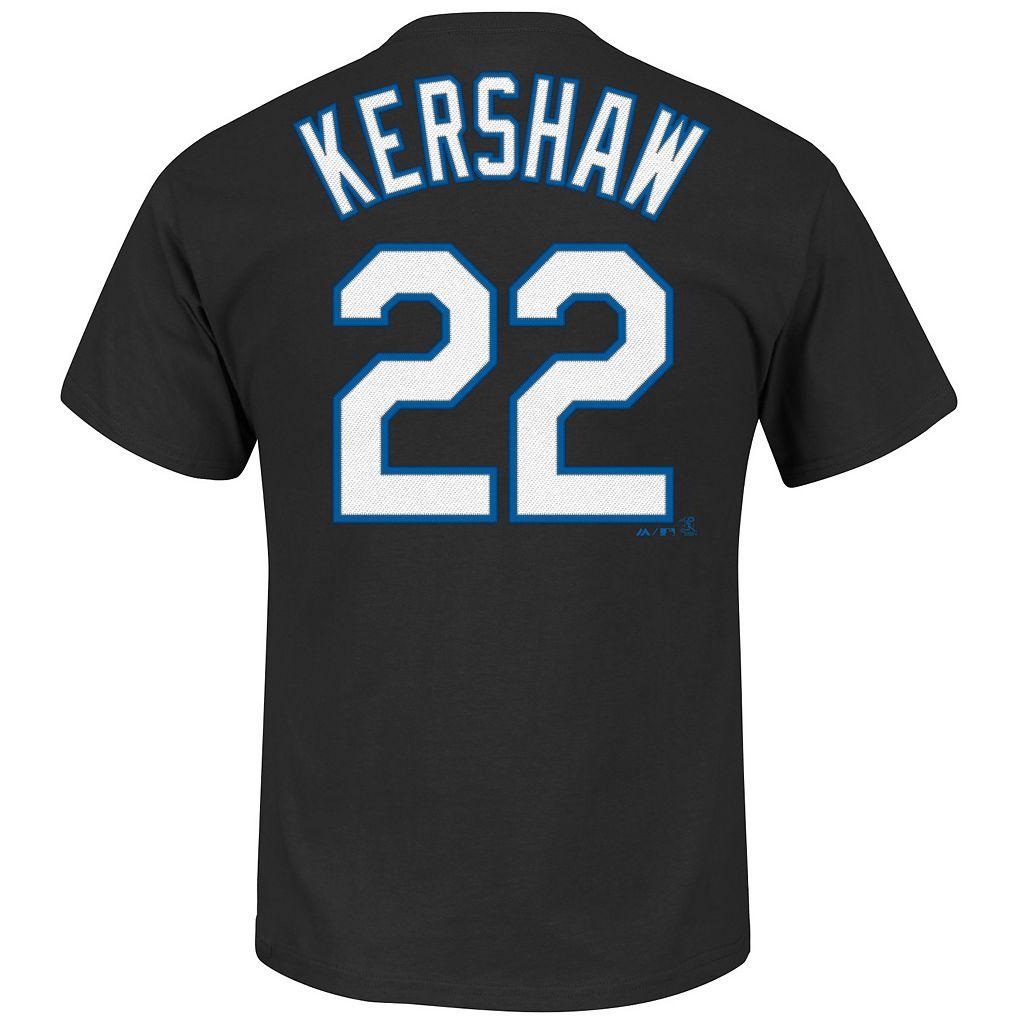 Men's Majestic Los Angeles Dodgers Clayton Kershaw Tee