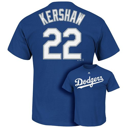 Men's Majestic Los Angeles Dodgers Clayton Kershaw Tee