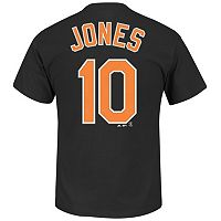 Men's Majestic Baltimore Orioles Adam Jones Tee