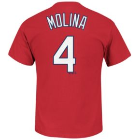 Men's Majestic St. Louis Cardinals Yadier Molina Tee