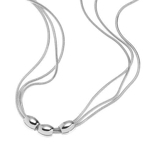 Napier® Beaded Triple Snake Chain Necklace