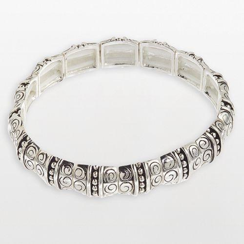 Napier® Swirly Squares Stretch Bracelet
