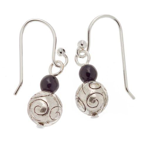 Napier Silver Tone Bead Drop Earrings