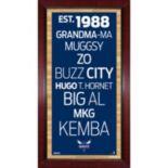 "Steiner Sports Charlotte Bobcats 32"" x 16"" Vintage Subway Sign"