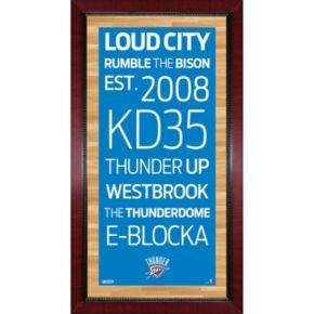 Steiner Sports Oklahoma City Thunder 32'' x 16'' Vintage Subway Sign