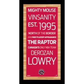 Steiner Sports Toronto Raptors 19'' x 9.5'' Vintage Subway Sign