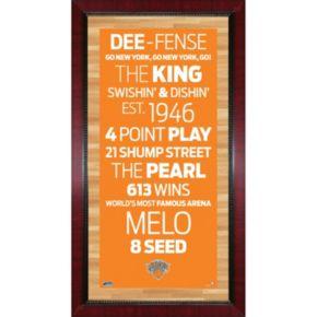 Steiner Sports New York Knicks 32'' x 16'' Vintage Subway Sign