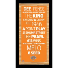 Steiner Sports New York Knicks 19'' x 9.5'' Vintage Subway Sign with Game-Used Net