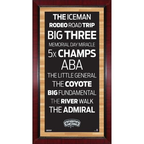 Steiner Sports San Antonio Spurs 32'' x 16'' Vintage Subway Sign