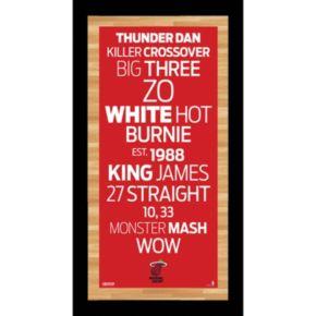 Steiner Sports Miami Heat 19'' x 9.5'' Vintage Subway Sign