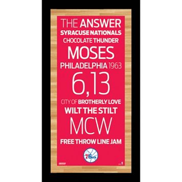 Steiner Sports Philadelphia 76ers 19
