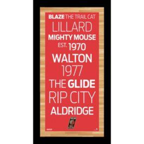 """Steiner Sports Portland Trail Blazers 19"""" x 9.5"""" Vintage Subway Sign"""