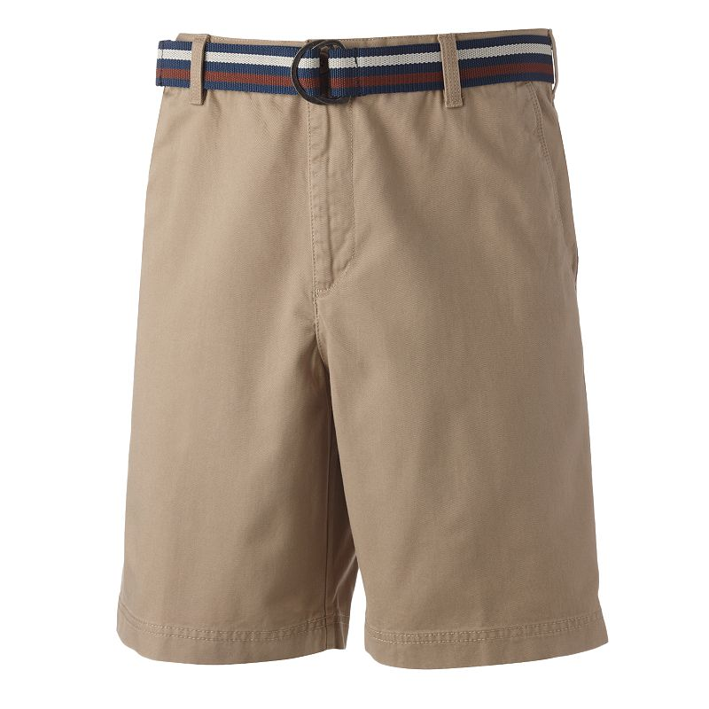 Arrow Belted Flat-Front Shorts - Men
