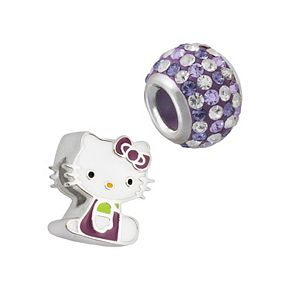 Hello Kitty® Sterling Silver Crystal Bead Set
