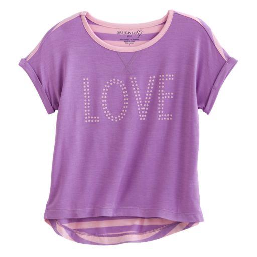 Design 365 Love Hi-Low Top - Girls 4-6x