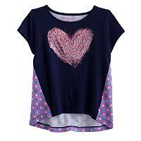 Design 365 Sequin Heart High-Low Top - Toddler Girl