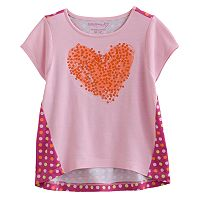 Design 365 Sequin Heart High-Low Top - Toddler Girl