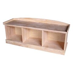 3-Compartment Storage Bench