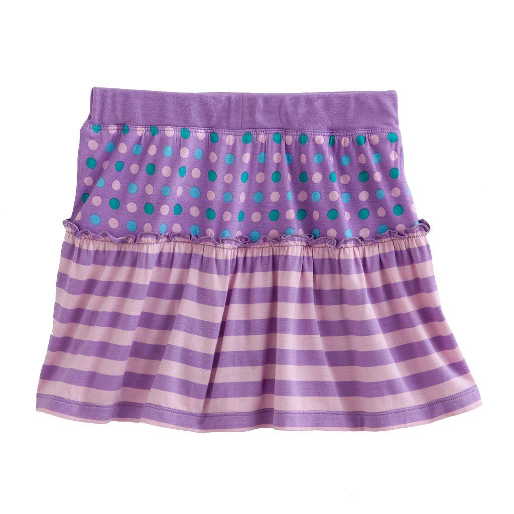 Design 365 Striped Polka-Dot Skirt - Toddler