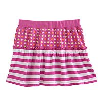 Design 365 Striped Polka-Dot Skirt - Toddler