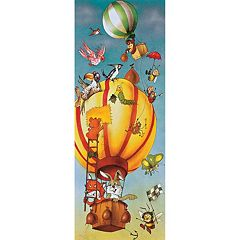 Komar Animal Hot Air Balloon Wall Decal