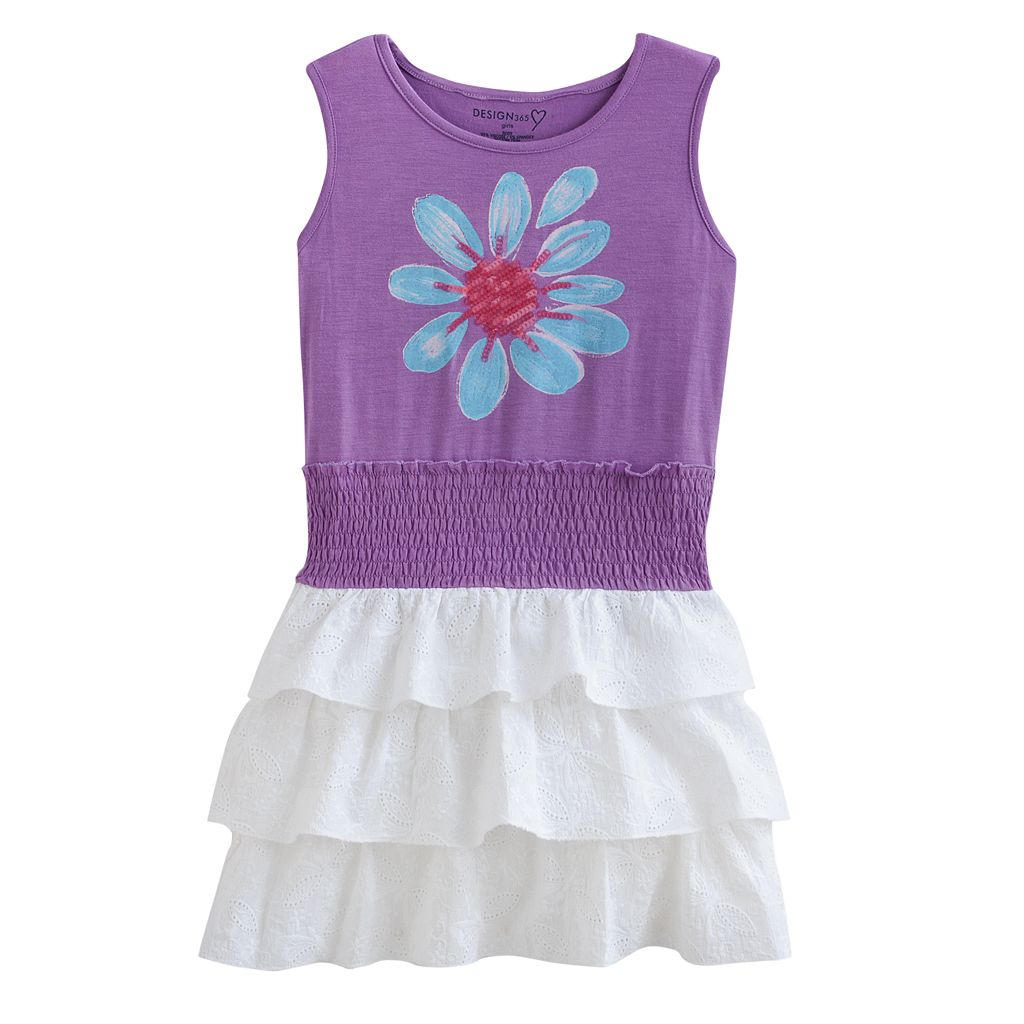 Design 365 Flower Ruffle Dress - Toddler