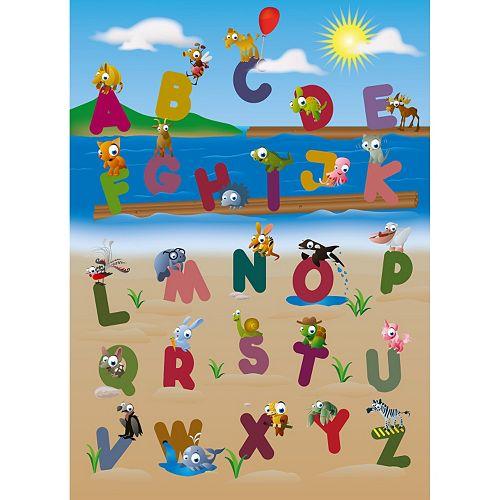 Ideal Decor Animal Alphabet Wall Decal