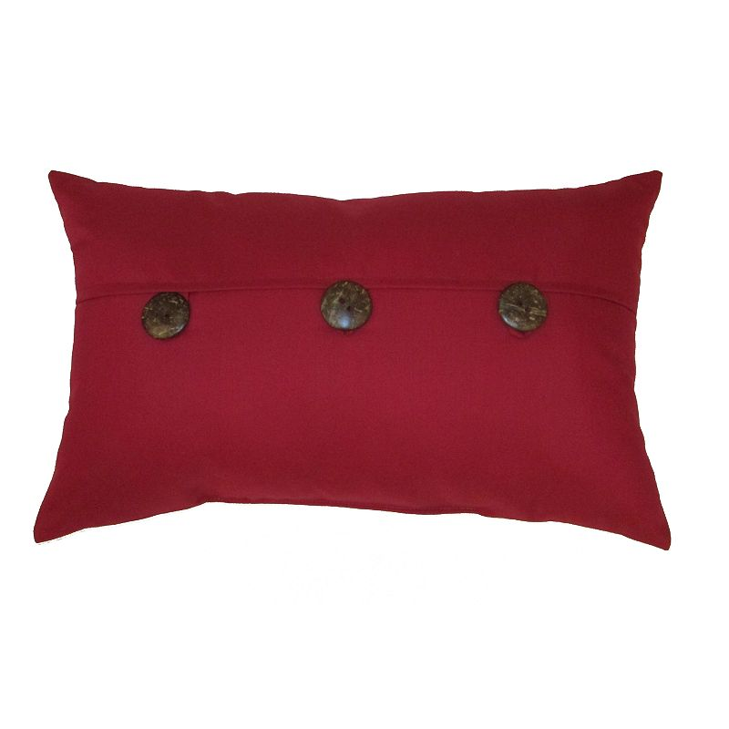 HOME FASHIONS INTERNATIONAL OUTASIGHT INDOOR OUTDOOR OBLONG DECORATIVE PILLOW