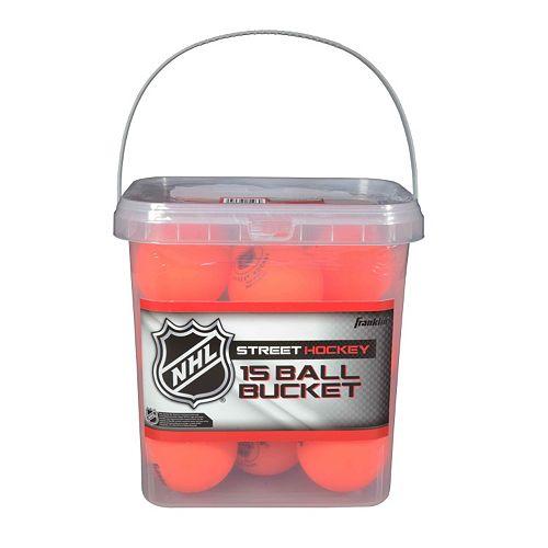 Franklin NHL Street Hockey High Density 15-Ball Bucket