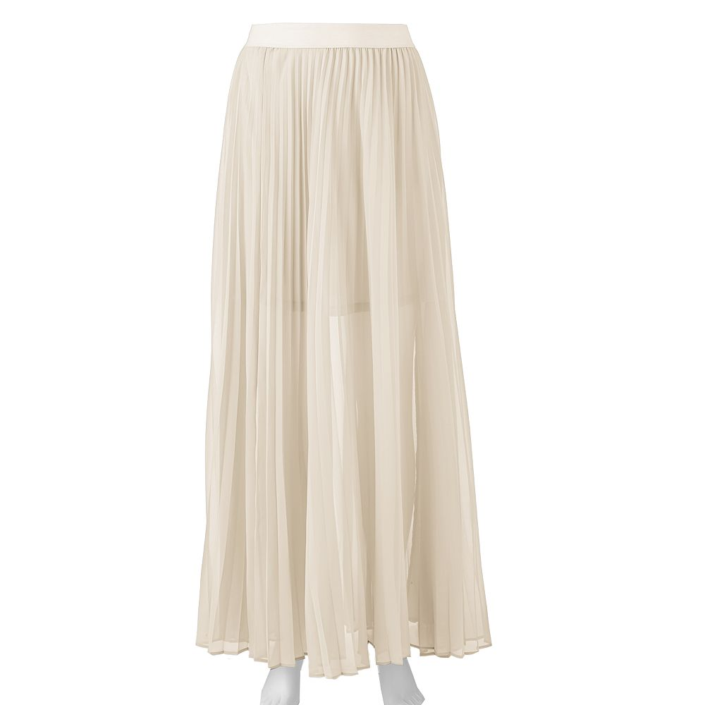 LC Lauren Conrad Chiffon Pleated Maxi Skirt - Women's