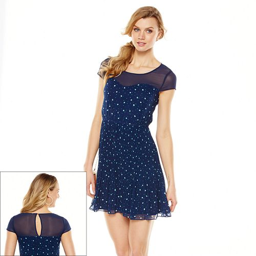 LC Lauren Conrad Ladybug Chiffon Dress - Women's