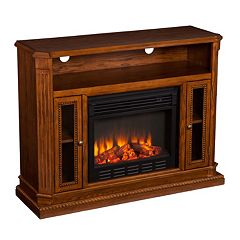 Devlin Media Console Electric Fireplace