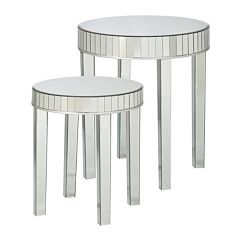 Southern Enterprises Julia 2-pc. Mirrored Nesting Table Set